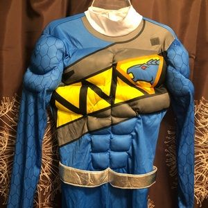 BLUE POWER RANGER Dino Charger Muscle Costume L